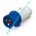 Fisa 16A 2P+E 200-250V IP44