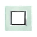 Placa ornament 2 module sticla Kristall Bticino Axolute