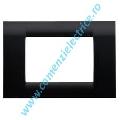 Placa ornament negru 1 modul Gewiss Virna