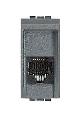 PRIZA TELEFON RJ11 CONECTOR AMP 1 MODUL ANTRACIT LIVING LIGHT BTICINO