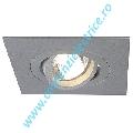Plafoniera ROW 1 GU10 downlight gri argintiu