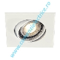 Plafoniera SQUARE GU10 Downlight gri argintiu