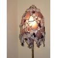 Lampadar lila cu cioburi Tiffany