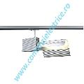 Spot TEC spot 1xTC-DE 26W cu 1-phase adaptor gri argintiu