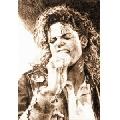Michael Jackson - drawing (61 x 91 cm)