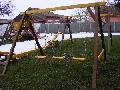 Mobilier pentru gradina - leagan pentru copii cu 3 locuri