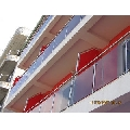 Balustrada inox cu geam securizat