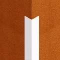 Cornier din PVC 12 x 12 mm alb 2.5 m