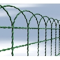 Plasa de gard verde decorativa ARCOPLAX 40cm 25m
