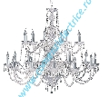 Candelabru Hale 17218-18 crom 18x60W E14