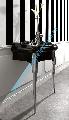 Masca culoare negru lucios lavoar/chiuveta 73 cm gama Retro