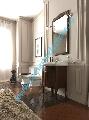 Mobilier baie lemn culoare nuc lavoar/chiuveta 73 cm gama Retro