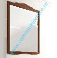 Oglinda baie rama lemn culoare nuc 92X116 cm gama Retro