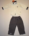 Bluza alba cu pantalon lung - 12978A 12978A
