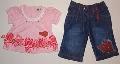 Tricou roz cu pantalon de blug - 9652 9652
