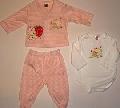 Set pijamalute roz in dungi pentru bebeluse- 14317 14317