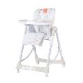 Scaun de masa Chipolino Comfort Plus alb cu inscriptii pentru copii- HUBSTHC01403CH HUBSTHC01403CH