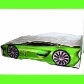Patut copii masina de curse 150x74 cm Verde - COS013 COS013