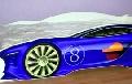 Patut copii masina de curse 150x74 cm Albastru  - COS007 COS007