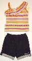 Pantalon scurt negru cu maiou - 12600_1 12600_1