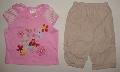 Pantalon cu tricou roz pentru fetite - 7195_1 7195_1