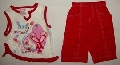 Pantalon rosu cu maiou alb - 7189\'_1 7189\'_1
