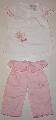 Pantalon roz cu tricou alb - 9669_1 9669_1