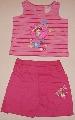 Pantalon scurt si maiou roz cu dungi - 1714_1 1714_1