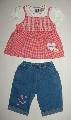 Pantalon de blug cu tricou rosu - 7361B_1 7361B_1