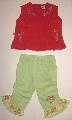 Pantalon verde cu maiou rosu - 5547_1 5547_1