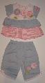 Pantalonas cu tricou pentru bebeluse - 10884 10884