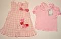 Rochita in carouri cu tricou roz - 12553 12553