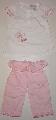 Tricou alb cu pantalon roz - 9669 9669