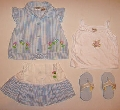 Hainute bleu de vara pentru fetite - 1816 1816