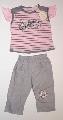 Tricou roz cu pantalon gri - 11028 11028