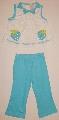 Pijama bleu cu alb pentru fetite - 1875\' 1875\'