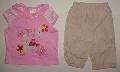 Tricou roz cu pantalon pentru fetite - 7195 7195