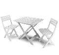 Masa cu 2 scaune pliante pentru gradina 0150