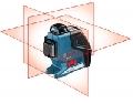 GLL 3-80 P Professional cu trepied- 3 planuri laser intersectate in 90 grade - vizibile continue