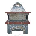 Gratar Gradina Mare - Placat cu piatra poligonala Rhodos