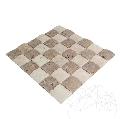 Mozaic Travertin Classic si Noce 3D Pillow Antichizat 5 x 5 cm