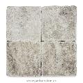 Travertin Silver Cross Cut Antichizat 10 x 10 x 1cm