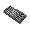 Unior, set de capete cu chei inelare dublu cotite 965/18B