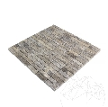 Mozaic Travertin Silver Polisat 1.5 x 4.8 cm