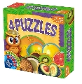 4 Puzzle - Invata fructele exotice D-Toys