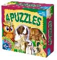 4 Puzzle - Invata animalele domestice D-Toys