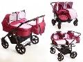 Carucioare gemeni 3 in 1 Mystroll Twins 2014 Pinkberry - BBC1029G