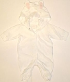 Salopeta pentru bebelusi White bunny - 14986