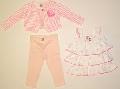 Set hainute pentru bebeluse Inimioare roz - 14907