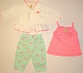 Set hainute pentru bebeluse Pink bike - 14910